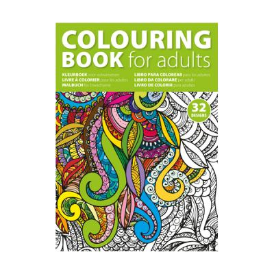Image of A4 Adult's colouring book.